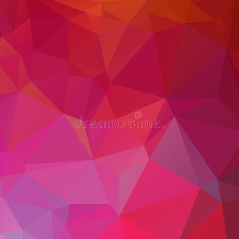 Abstracte rode en roze veelhoek stock afbeelding
