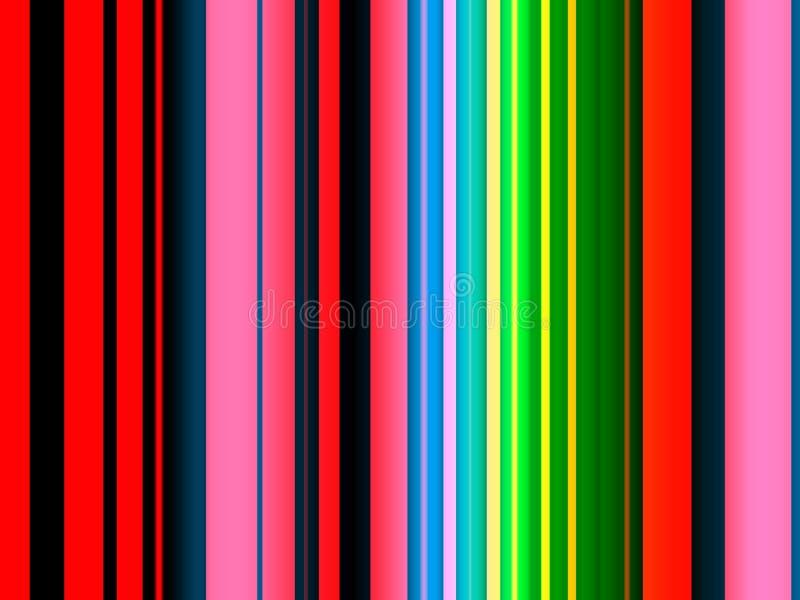 Abstracte rode gele blauwe roze groene kleuren, lijnen, fonkelende achtergrond, grafiek, abstracte achtergrond en textuur royalty-vrije illustratie
