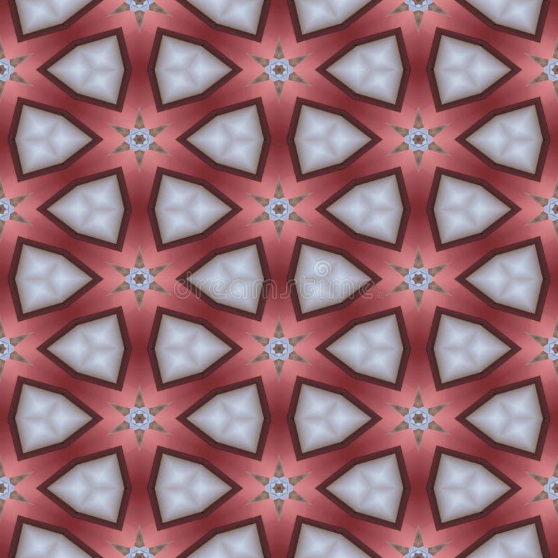 Abstracte rode glass-like geometrische textuur of achtergrond gemaakt naadloos vector illustratie