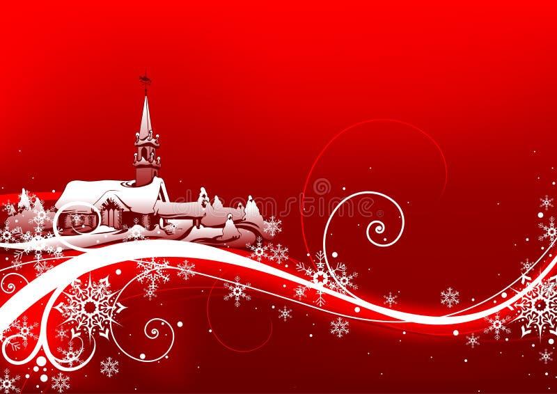 Abstracte rode Kerstmis stock illustratie