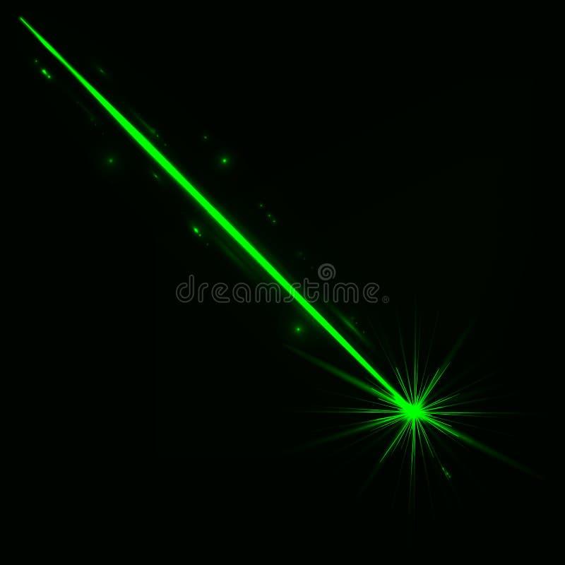 Abstracte rode laserstraal Ge?soleerd op transparante zwarte achtergrond Vector illustratie stock illustratie