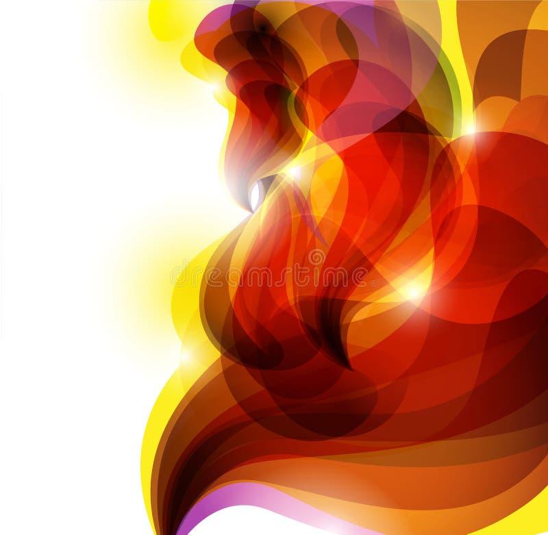 Abstracte Rode Levendige Achtergrond Stock Afbeelding
