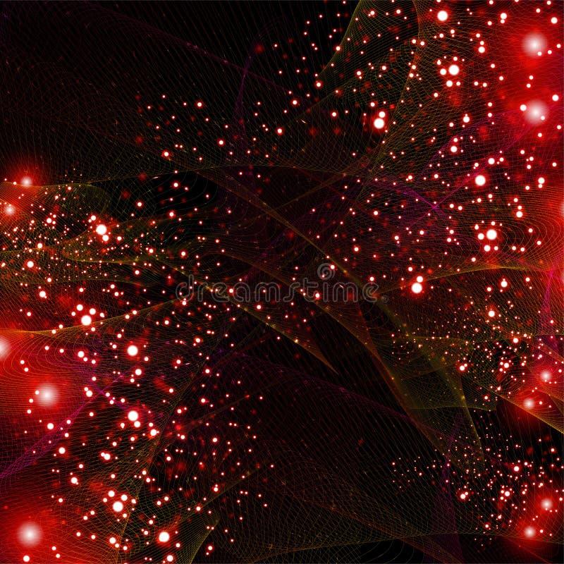 Abstracte rode lijn glanzende achtergrond stock illustratie