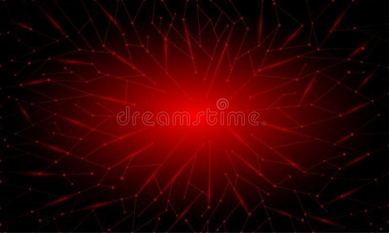 Abstracte rode neon veelhoekige achtergrond vector illustratie