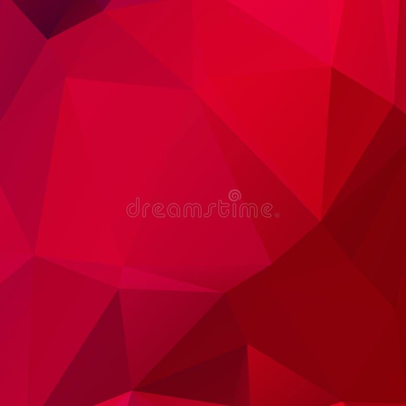 Abstracte rode polygonttextuur stock foto's