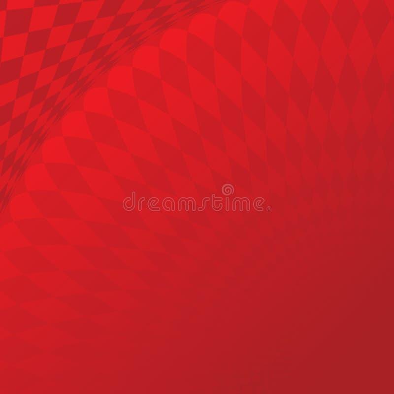 Abstracte rode tegel 01 stock illustratie