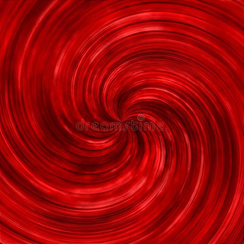 Abstracte rode wervelende draaikolkachtergrond royalty-vrije illustratie