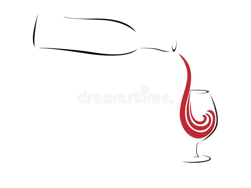 Abstracte rode wijn vector illustratie