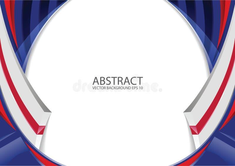 Abstracte rode witte blauwe achtergrond vector illustratie