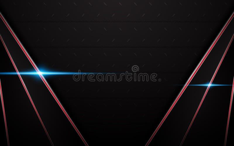 Abstracte rode zwarte van de het ontwerp dynamische textuur van de kaderv-vorm het patroonachtergrond stock illustratie