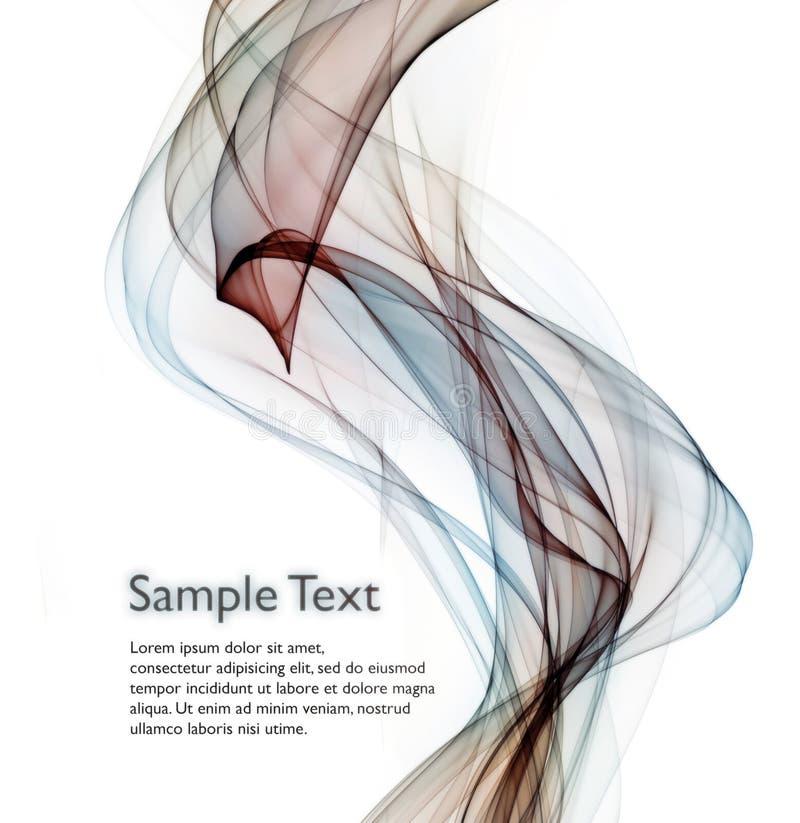 Abstracte rokende achtergrond stock illustratie