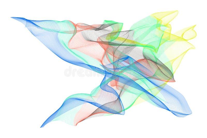 Abstracte rokerige de illustratiesachtergrond van de lijnkunst Ontwerp, vector, dekking & creatief stock illustratie
