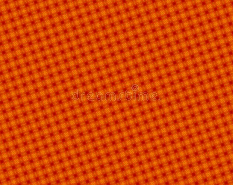 Abstracte rood en sinaasappel 4 ruimde sterren en achthoekpatroon op stock illustratie