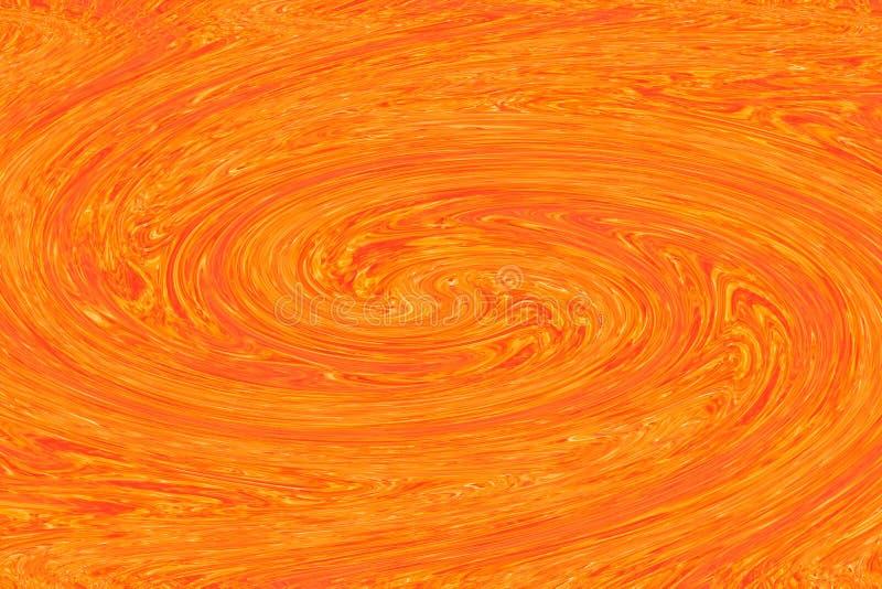 Abstracte rood-Gele kleurrijke acryl van de kleurenolieverf het moderne concept van de textuurkunst stock illustratie
