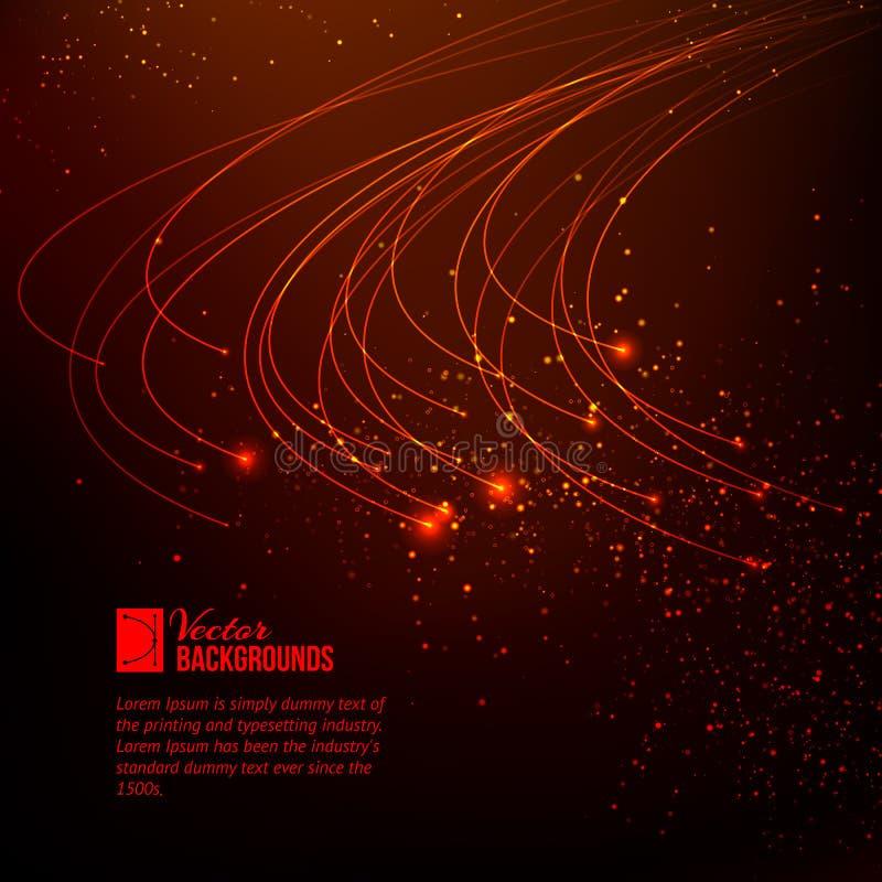 Abstracte rood lichten. stock illustratie