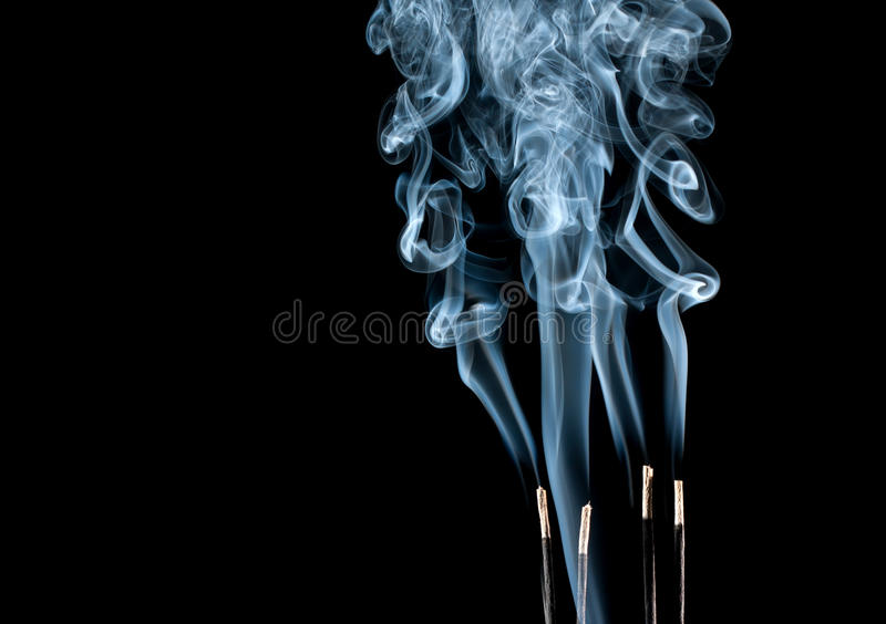 Abstracte rookgolven royalty-vrije stock foto's