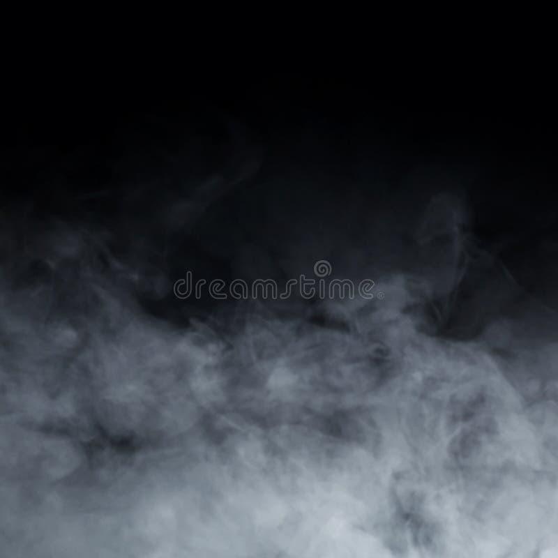 Abstracte rooktextuur over zwarte achtergrond stock foto's
