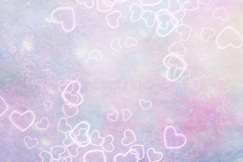 Abstracte roze achtergrond met harten vector illustratie