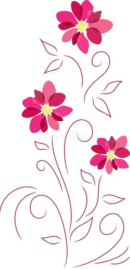 Abstracte roze bloemen stock illustratie