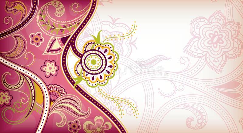 Abstracte Roze BloemenAchtergrond vector illustratie