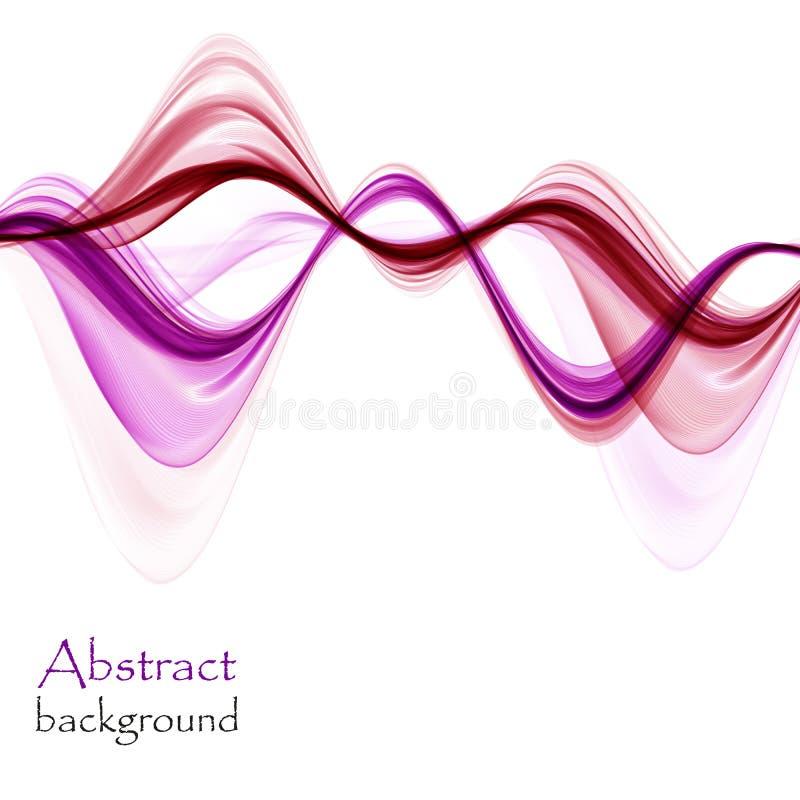 Abstracte roze en purpere golven op witte achtergrond stock illustratie