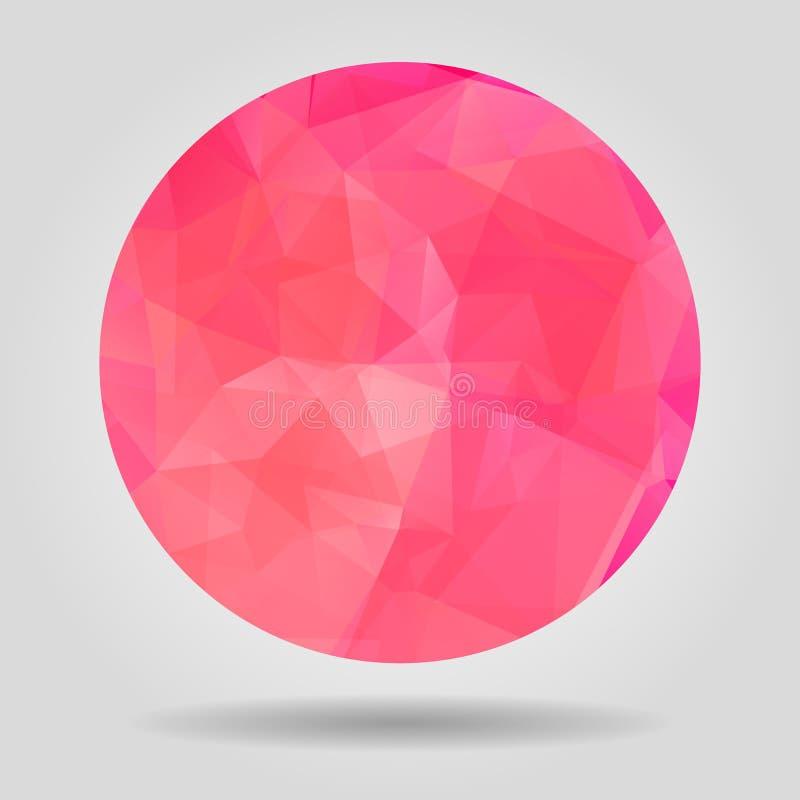 Abstracte Roze geometrische kleurrijke sferische vorm voor grafisch DE stock illustratie