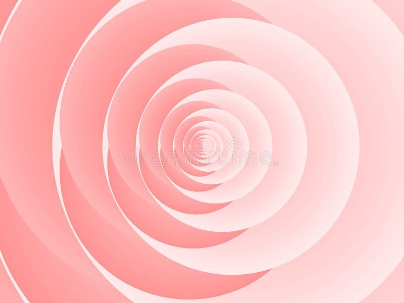 Abstracte roze nam toe stock illustratie