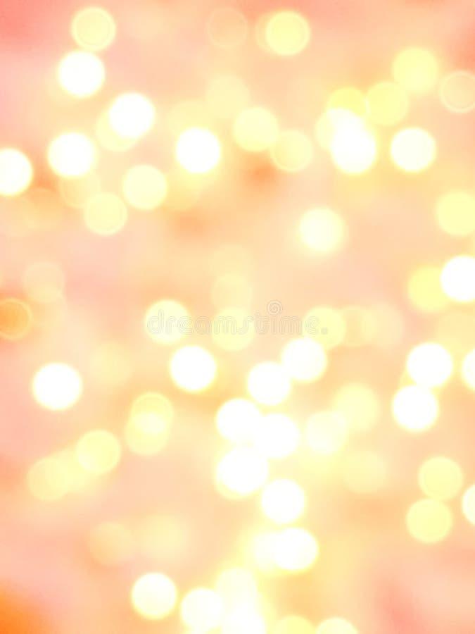 Abstracte roze, oranje, rode en witte lichte bokehachtergrond voor Kerstmis, Valentine, Nieuwjaar, Pasen of speciaal gebeurtenis  royalty-vrije stock foto