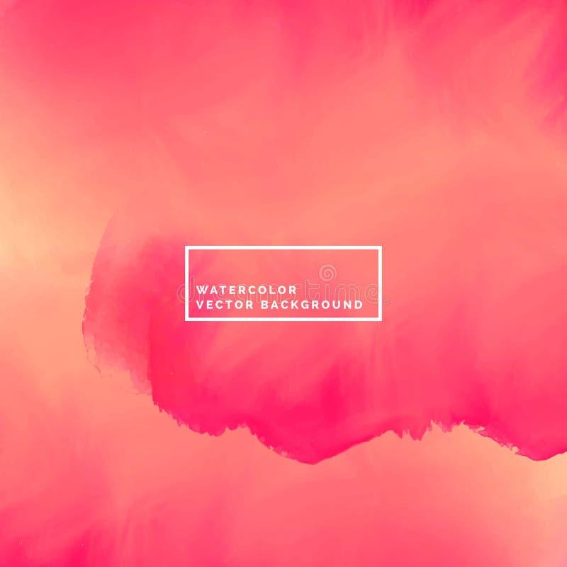 Abstracte roze stromende de verfachtergrond van de inktwaterverf royalty-vrije illustratie