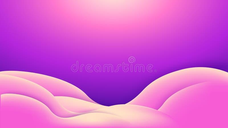Abstracte roze violette achtergrond met golvende gebogen vorm EPS10 vectorillustratie vector illustratie