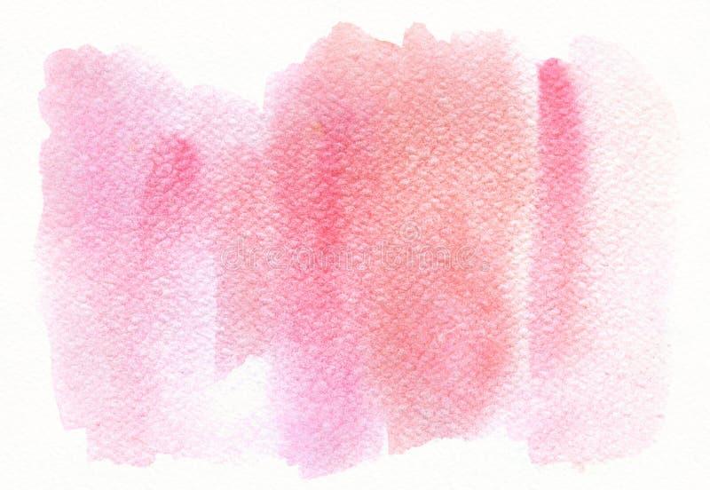 Abstracte roze in waterverfachtergrond, scheiding, vlek Ontwerpelement voor gelukwenskaarten, druk, banners en royalty-vrije stock foto's