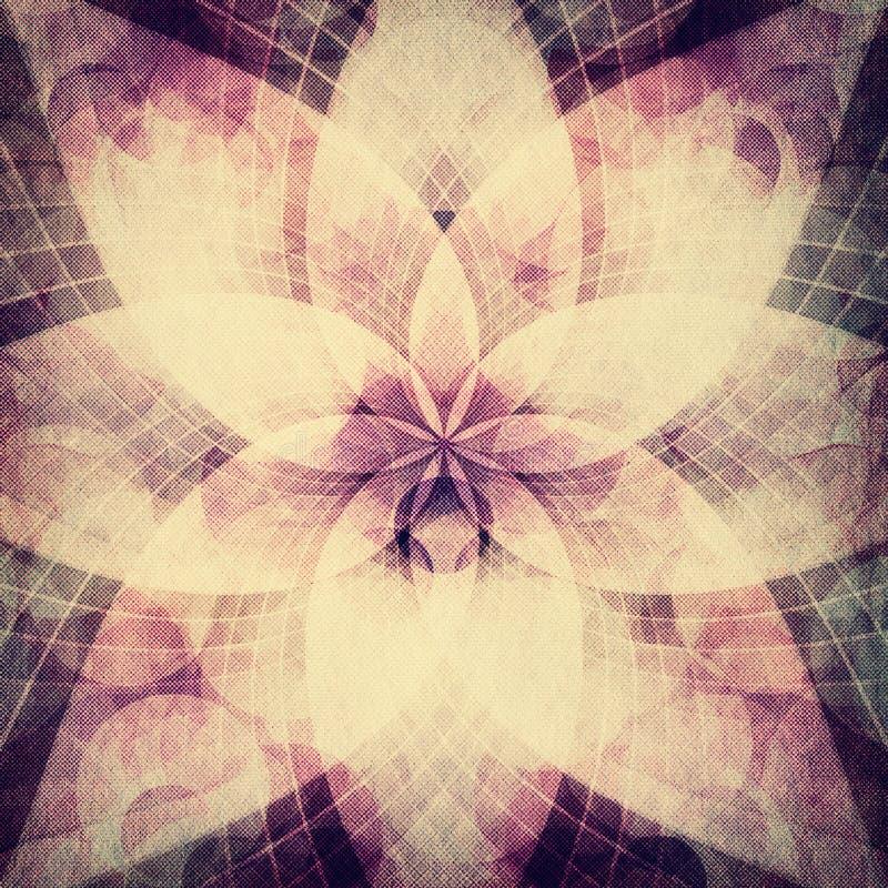 Abstracte rozetachtergrond stock illustratie