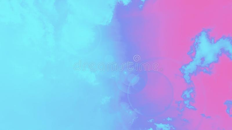 Abstracte ruimte turquoise aqua kleur blauw roze magenta gradiënt achtergrond, 16:9 panoramisch formaat vector illustratie