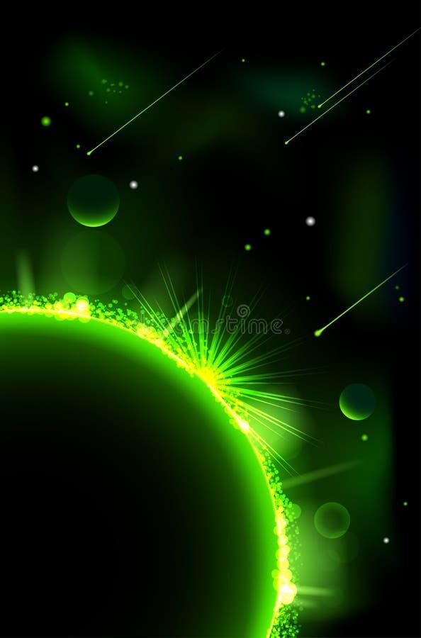 Abstracte ruimtescène vector illustratie
