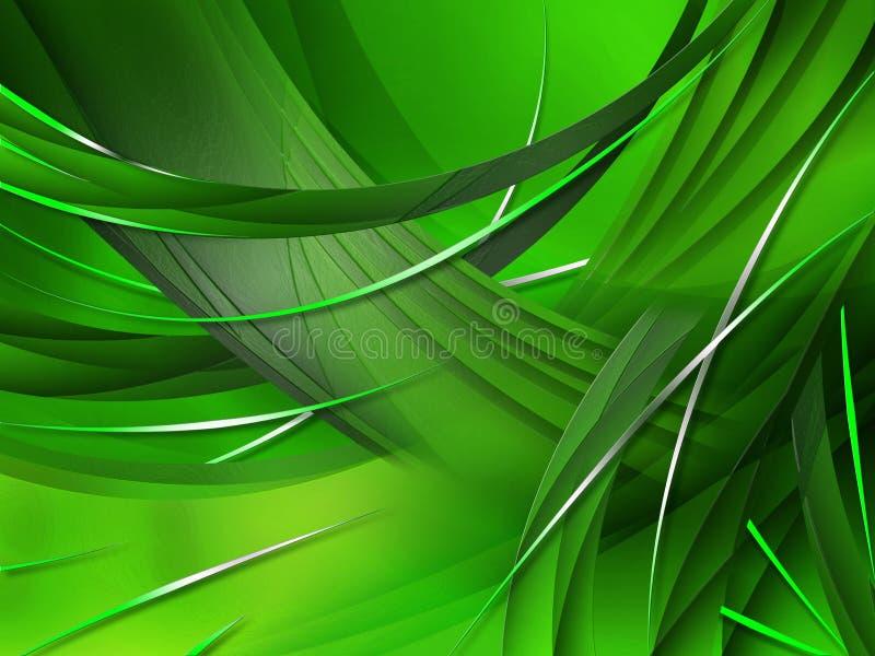 Abstracte samenstelling met krommen, lijnen, gradiënten vector illustratie