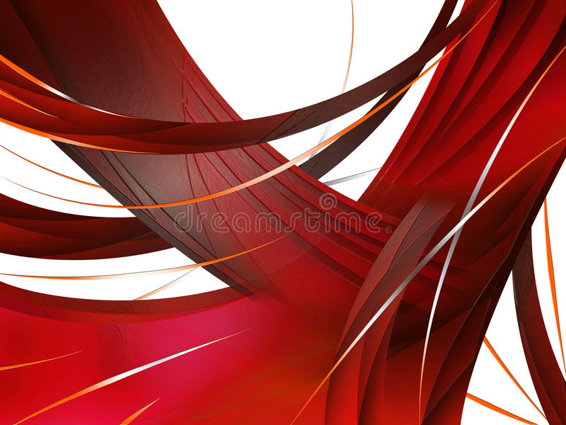 Abstracte samenstelling met krommen, lijnen, gradiënten royalty-vrije illustratie