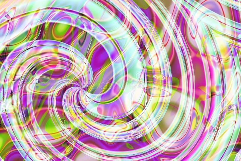 Abstracte samenstelling, spiraal royalty-vrije stock foto