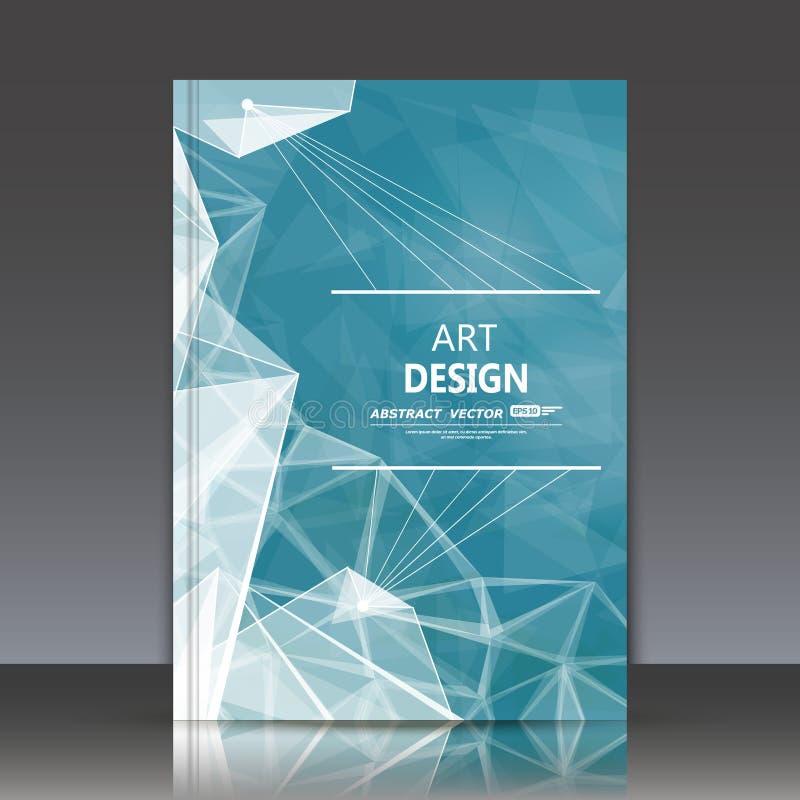 Abstracte samenstelling, stervormig pictogram, turkoois hemelthema, a4 het blad van de brochuretitel, vreemde ruimteachtergrond,  stock illustratie