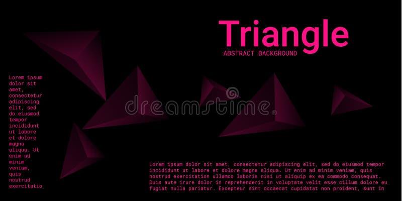 Abstracte samenstelling van driehoek vector illustratie
