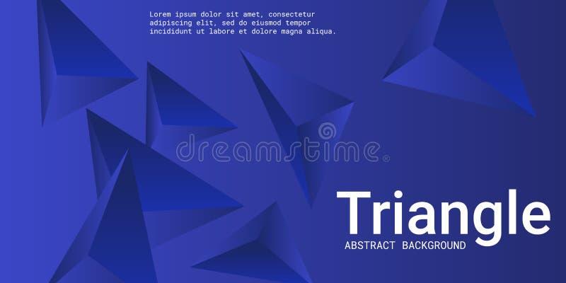 Abstracte samenstelling van driehoek stock illustratie