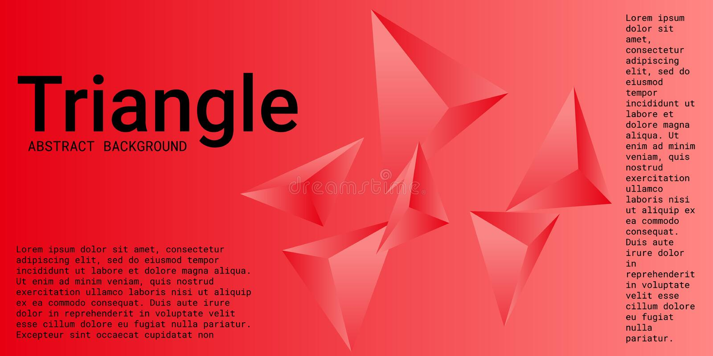 Abstracte samenstelling van driehoek royalty-vrije illustratie