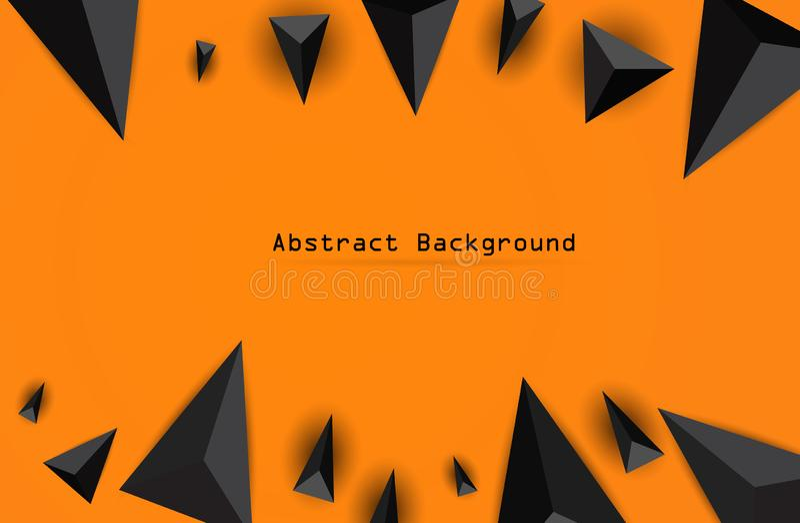 Abstracte samenstelling van driehoek Moderne geometrische achtergrond De driedimensionele geometrische driehoek van Bourgondië in vector illustratie