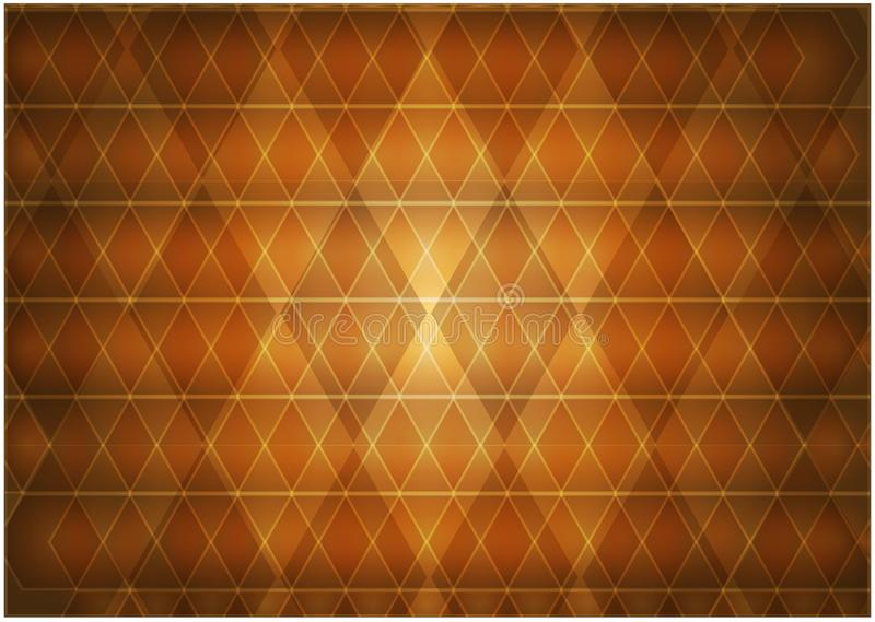 Abstracte samenstelling van ruiten heldere sinaasappel royalty-vrije illustratie