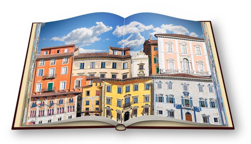 Abstracte samenstelling van typische oude Italiaanse gebouwen Itali? - P royalty-vrije stock afbeelding