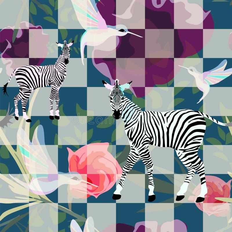 Abstracte schets van Twee grappige gestreepte gestreepte zwart-wit op een schaakbord vector illustratie