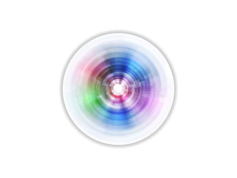 Abstracte schijf vector illustratie
