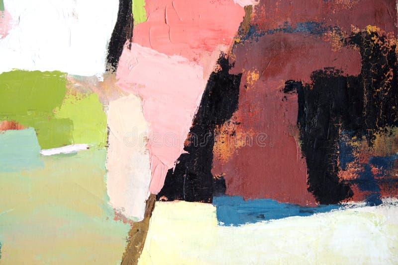 Abstracte schilderende 3 stock afbeelding