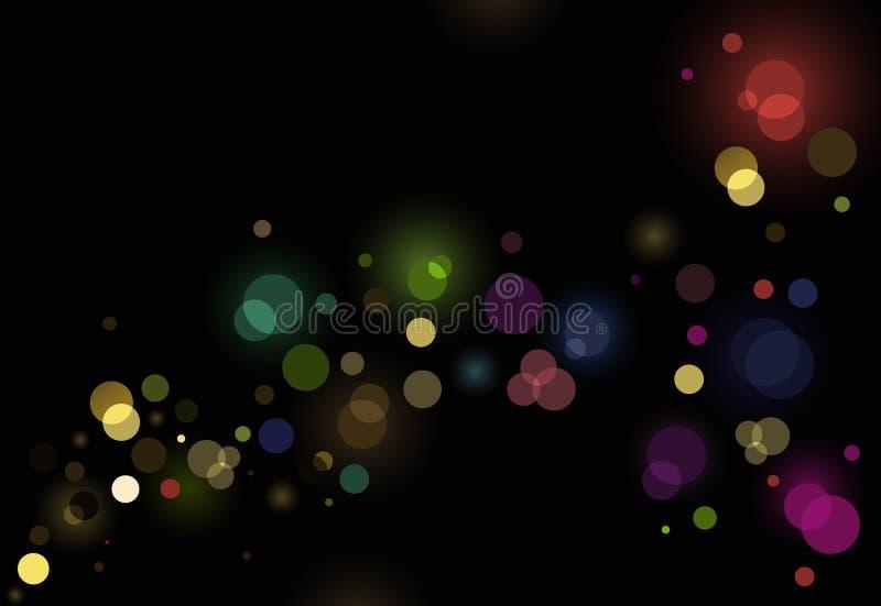 Abstracte schitterende lichtenachtergrond stock illustratie