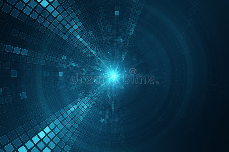 Abstracte science fiction futuristische achtergrond stock illustratie