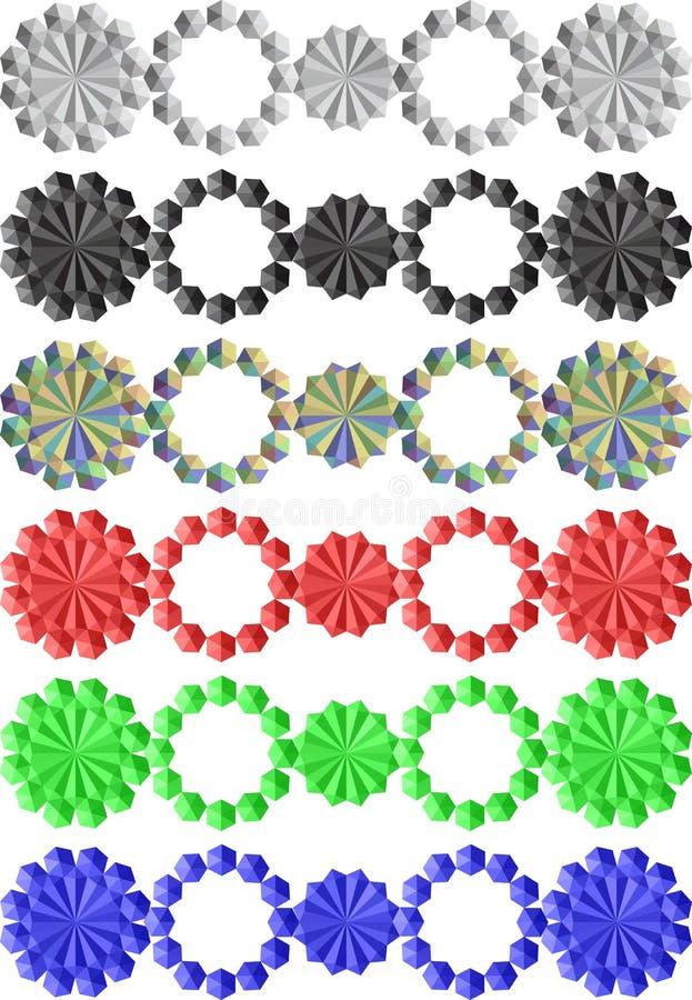 Abstracte separators royalty-vrije stock afbeelding